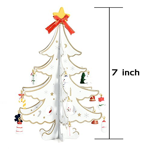 Yunnanhere DIY creative wooden Christmas tree decoration (white) by yunnanhere (Image #2)