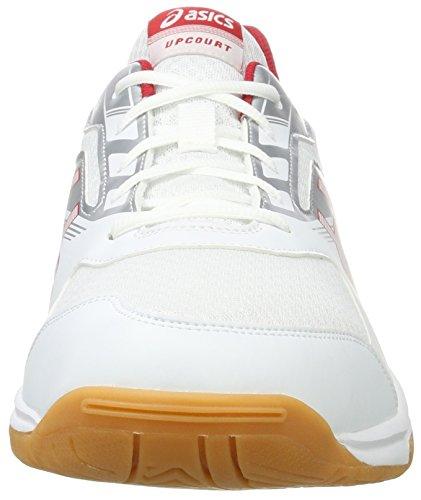 Upcourt Pour De Homme Chaussures 2 Blanc Rouge Multisport 0123 Argent Sport Asics blanc dqtrwtY