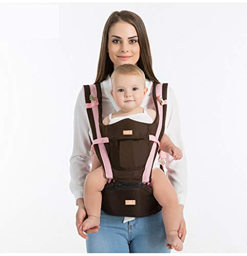 Baby Carrier Hip Seat-Baby Carrier Backpack 0-48months (Pink Blue Khaki)