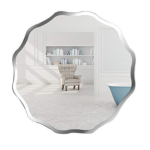 Bevelled Bathroom Mirror 50x50cm Premium Quality Frameless Makeup Shaving Home Hallway Mirror -