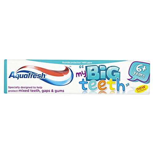 Aquafresh Big Kids Fresh Mint Toothpaste 3-pack,50ml ()