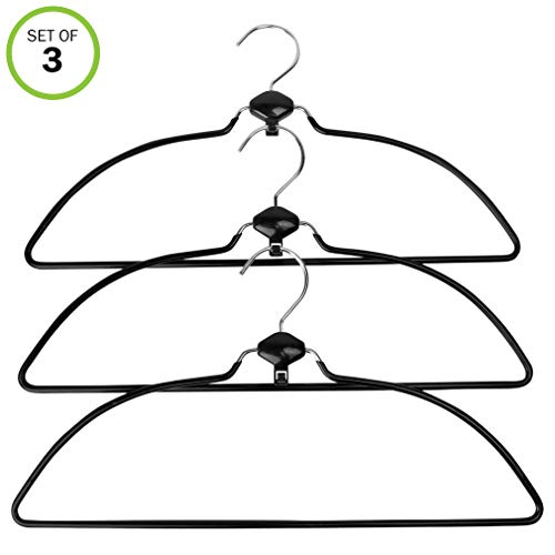 Evelots Hangers Cascading-Swivel-Blouse/Shirt/Pants-Non Slip Rubber-Metal-Set/3