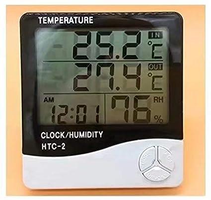 Termómetro digital LCD Monitor de temperatura e higrómetro