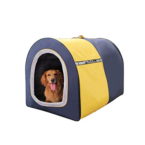 ZSH-GW Dog Houses Lightweight Foldable Soft Dog Crate Portable Strong Fabric Kennel, Soft Crate for Dogs,and Food…