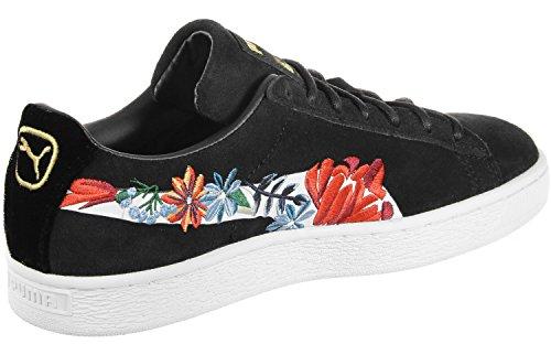 Puma Scarpe Da Donna / Sneaker In Pelle Scamosciata Iper Impreziosito Bianco Nero