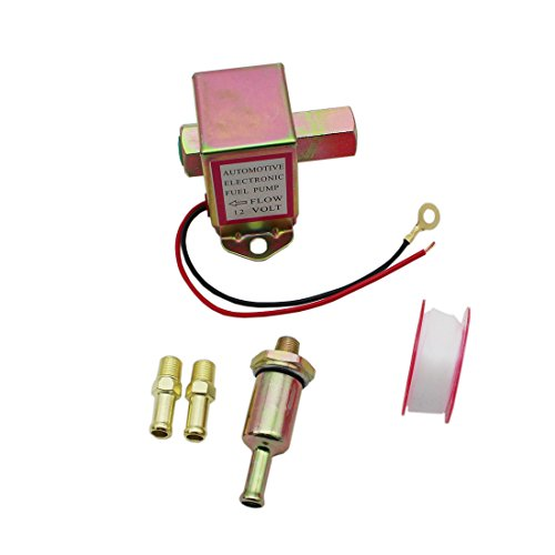 - GoodQbuy 12V 4-6 PSI Universal Heavy Duty Standard Metal Facet Automotive Electric Fuel Pump for Gasoline & Diesel 5/16'' 8mm Brass Fitting