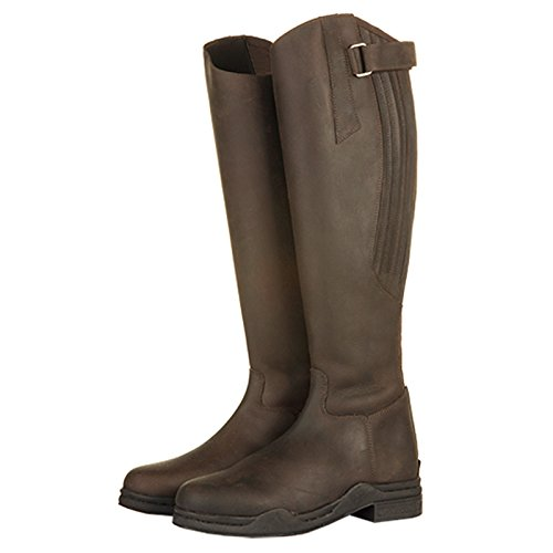 HKM Adults Unisex Horse Riding Leather Showing Stable Yard Outdoor Competition Boots Brown 8WexGH