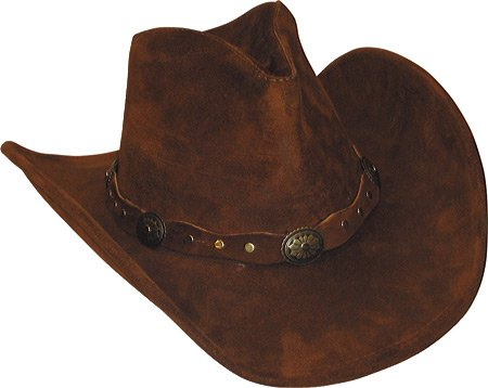 Minnetonka Mens Leather Outback Hat Brown X-Large
