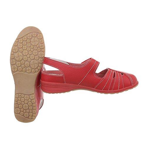 Zapatos Cuñas Para 5011 De Ital Plataforma Mujer Rot design Tacon 1761nWFrq