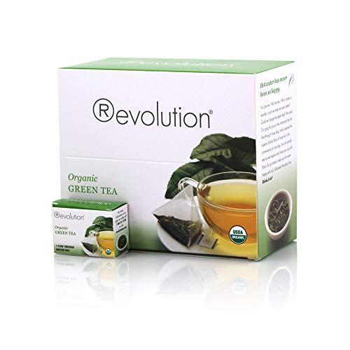 Revolution Tea - Organic Green Tea | Premium Full Leaf Infuser Teabags - Brain Health (30 Bags) (Revolution Tea Variety)