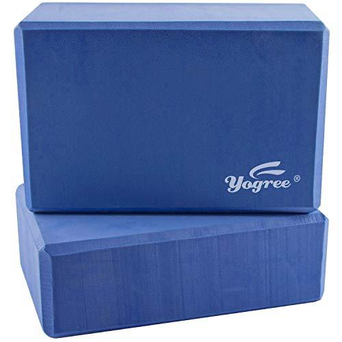 yogree (2-PC Yoga Blocks, 9'x6'x4' - High Density EVA Foam Brick Provides Stability Balance &...