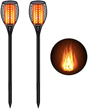 Path Torches Dancing Flame Solar Light