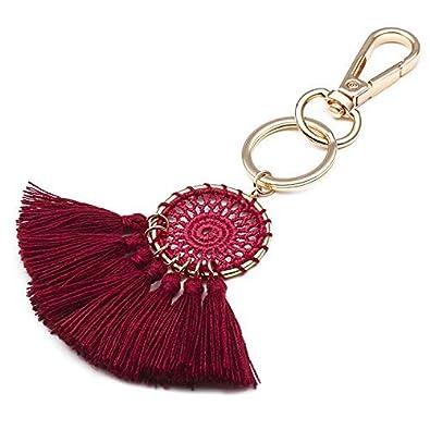 JOUDOO Dream Catcher Keychain Handmade Tassels Keyring Charm Pendant