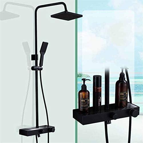 浴室高級シャワー蛇口セット、壁掛け調整可能な昇降ブースタノズル大ラック304ステンレス鋼スマートシャワーセット,C