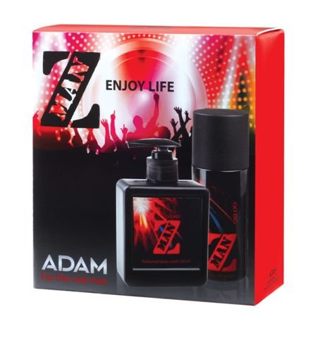 150 Ml Gift Set (Adam Z-man Go Big Gift Set - Body Spray 150ml + Shower Gel 250ml)
