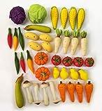 TheBestBuy 40 pcs Dollhouse Miniature Mixed Vegetables Set