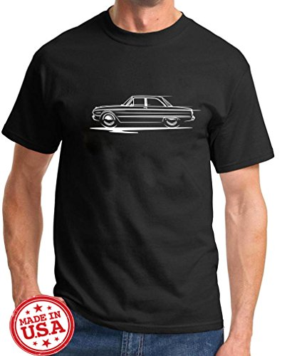 Ford Hardtop - 1960-63 Ford Falcon Hardtop Redline Series Classic Outline Design Tshirt 2XL black