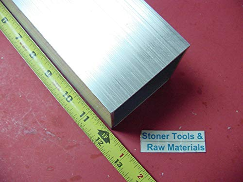 (3''x 3''x 1/8'' Wall x 12'' Long Aluminum Square Tube 6063 T52 3'' SQ x .125'')