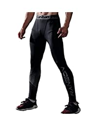 HOTIAN Bodybuilding Compression Pants Running Tights Leggings for Men