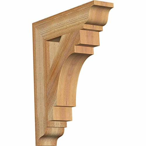Cedar Bracket - Ekena Millwork BKT04X18X22MRC01RWR Merced Traditional Rough Sawn Bracket, 4