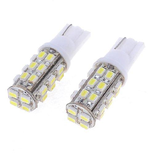 Pair Car T10 194 168 White 1206 SMD 28-LED Tail Turning Light Bulb
