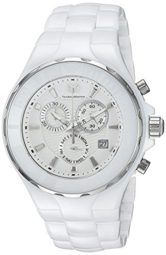 Technomarine Men's Cruise Quartz Watch with Ceramic Strap, White, 24 (Model: TM-115319 ()