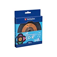 Verbatim 700MB 52X 80 Minute Digital Vinyl CD-R, 10-Disc 97935