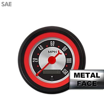 Aurora Instruments (GAR2132ZEXHACBE) American Retro Rodder Red VI Speedometer Gauge