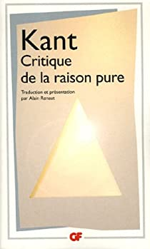Critique de la raison pure par Kant