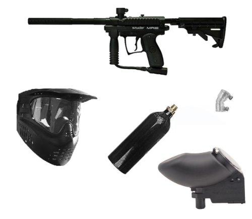 Spyder MR100 Pro Paintball Marker Gun + 20oz + GXG Mask +...