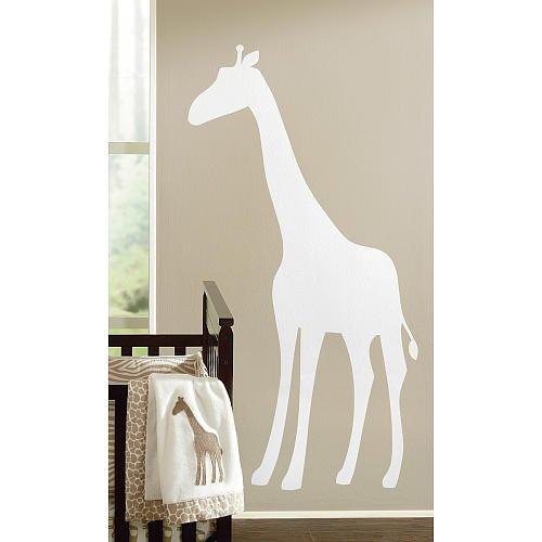 (Sadie Scout Giraffe Jumbo Wall Decal White)