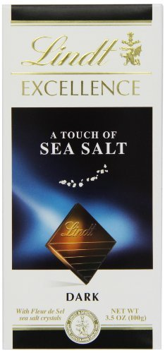 - Lindt Excellence Bar (Dark Chocolate A Touch of Sea Salt),3.5 Ounce Package - Pack of 4