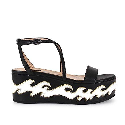Femme 1P20Y3Y3FJZZ2 Cuir Noir Pinko Chaussures Compensées 6OxwvAv