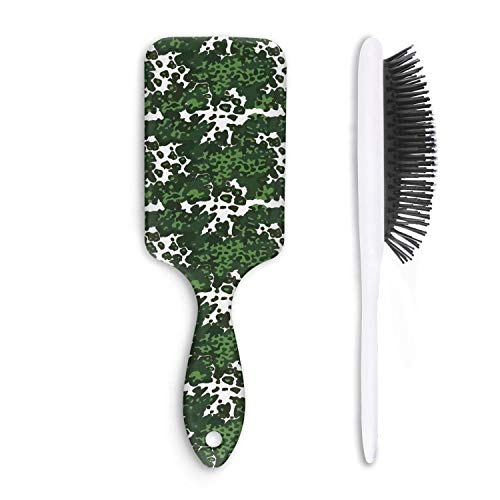 - Wet And Dry Camouflage green army Beauty Professional Paddle Hair Brush For Women And Men Grooming Styling & Shaping
