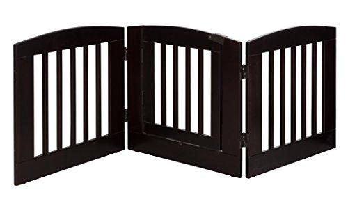BarkWood Pets Freestanding Pet Gate with Walk-Thru Door and Three 24