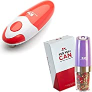 Electric can opener (Red) + Salt and Pepper Grinder (Purple)