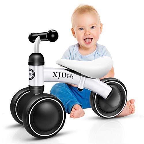 XJD Mini Trike Mini Bike For Toddlers, Kids Learn To Walk For 1-3 Years Old Kids No- Pedal 3 wheels Mini Balance Bike (White)