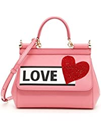 Women's BB6003AS4998H401 Pink Leather Handbag