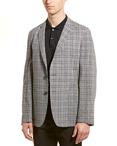 Hickey Freeman Mens Wool Sport Coat, 40, Black