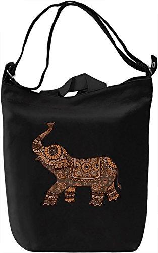 Elephant Borsa Giornaliera Canvas Canvas Day Bag| 100% Premium Cotton Canvas| DTG Printing|