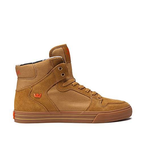Supra 08044 Men's Vaider Sneaker, Tan - Lt Gum - 13 M US ()