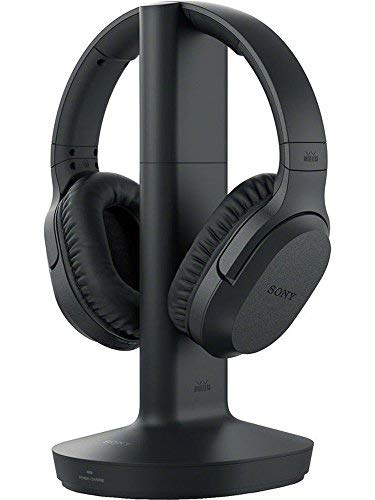Sony Noise Reduction 150 feet Long Range Wireless Dynamic Stereo Headphones with Volume Control & Wide Comfortable Headband for All VIZIO M190MV, M190VA, M190VA-W, M220VA, M220VA-W, M260MV, M260VA, M260VA-W, M261VP LCD HDTV Flat Screen Television ()