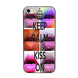 QYF Keep Calm and Kiss On Design Hard Case for iPhone 5/5S