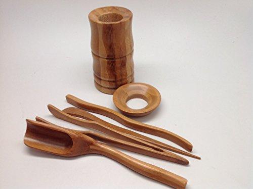 Musiccitytea Gong Fu Tea Tools Bamboo Medium Size Tools 6 PCS M001 by Musiccitytea (Image #2)
