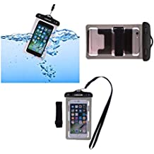 DFV mobile - Armband Universal Protective Beach Case 30M Underwater Waterproof Bag for => ZTE NUBIA N2 (2017) > Black