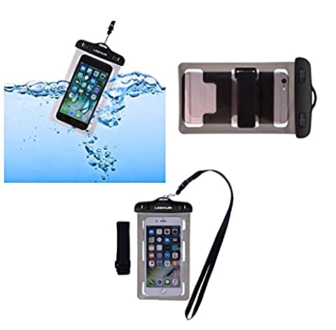DFV mobile - Funda y Brazalete Acuatico Protector Playa Sumergible Universal 30M Impermeable para => HUAWEI ASCEND G730 DUAL > (Estuches Huawei G730)