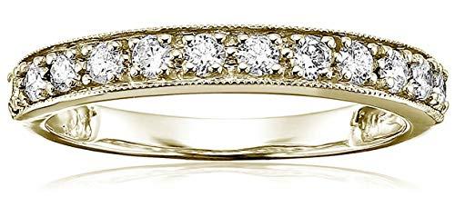 Vir Jewels 1/2 cttw Milgrain Diamond Wedding Band in 14K Yellow Gold In Size 6 ()