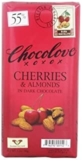 product image for Chocolove Dark Chocolate Bar With Cherries And Almonds -- 3.2 oz Each / Pack of 4