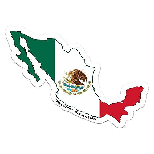 Mexico Map Flag car bumper window sticker 5