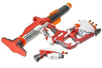 3x Toy Guns! Military Toy Bazooka, UZI Machine Gun Dart Gun & Camo 9MM